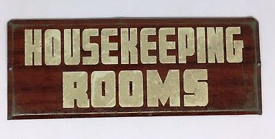 """~*~Authentic Antique """"HOUSEKEEPING ROOMS"""" Sign~*~"""