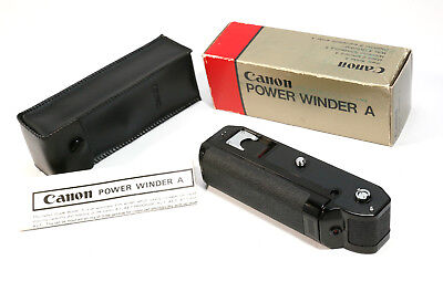 Canon Power Winder A - for AE-1, A1, F1, etc- Very Clean & Working +Original Box