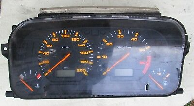 Strumentazione VOLKSWAGEN Polo Golf  TDI 1995 Kmh. 200 Rev 6000 orange graphic