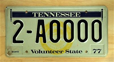 1977 Tennessee Volunteer State  License Plate  Auto Car Vehicle Tag #1229