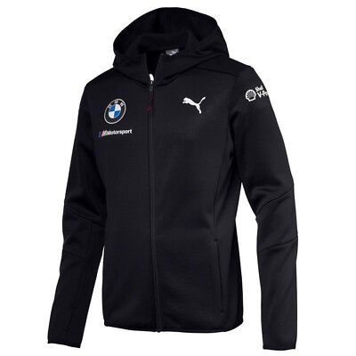 Official 2018 Puma BMW M Sport Motorsport Team Mens Hooded Mid Layer Jacket Coat