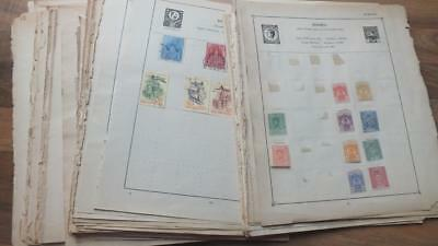 Over 150 Page Worldwide  From Old Book Page Mint And Used  Stamps Collection