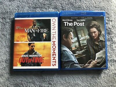2 Blu Ray Man On Fire - Out Of Time / The Post GREAT CONDITION