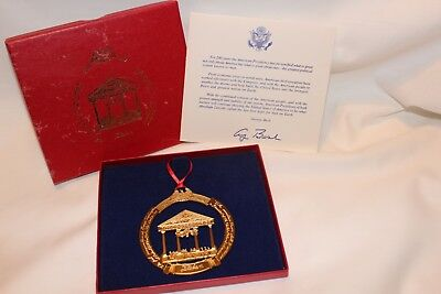 White House Historical Association Xmas 1789-1989 Tree Ornament in Original box