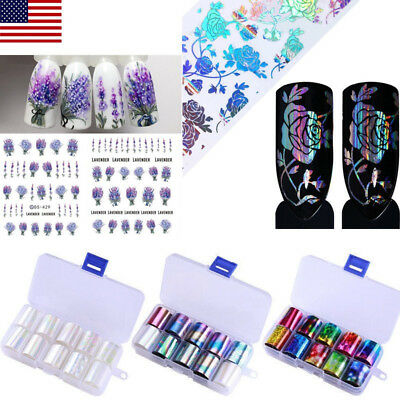 Nail Art Transfer Stickers 3D Decals Manicure Tips DIY Nail Foils Mancure Tools