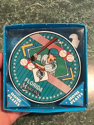 """Vintage 1993 Sports Impressions FLORID MARLINS Collectible Baseball Plate 4"""""""