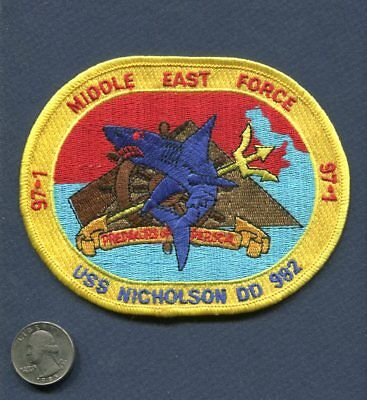DD 982 USS NICHOLSON Middle East Cruise 1997 US Navy Ship Squadron Pamphlet