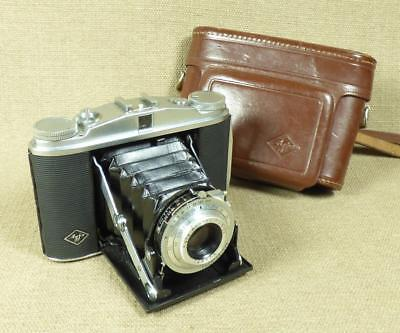 AGFA ISOLETTE II FOLDING CAMERA - APOTAR 4.5/85mm LENS & Leather Case - Germany