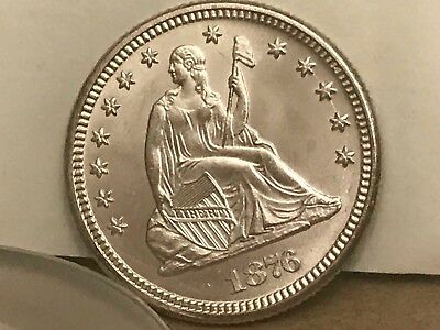 1876 Liberty Seated Silver Quarter 25C  Take A Look And You Grade