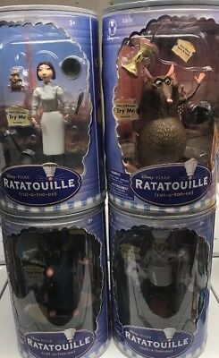 ratatouille Lot Of 4 Figures. Skinner,remy,colette,and Emile