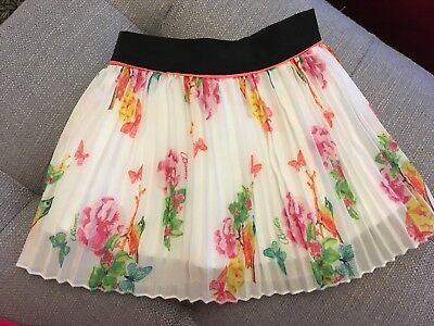 Ted Baker Girls 12-18 Months Party Skirt Floral Butterfies Birds Clothes