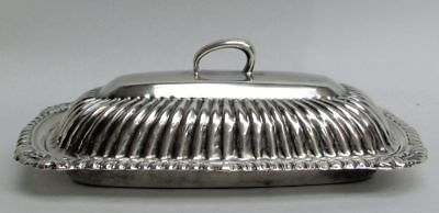 Vintage Sterling Silver Mexican Crafted Butter Dish