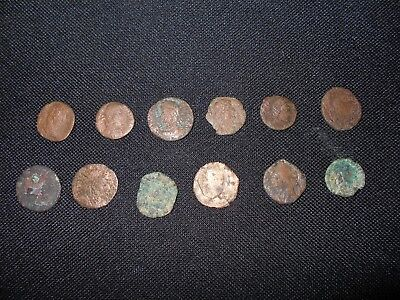 Lot of 12 Ancient Roman Bronze Coins