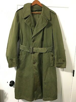 Original Wwii Us Army M43 Field Coat - Trench Coat - Long Coat - M1943 Jacket