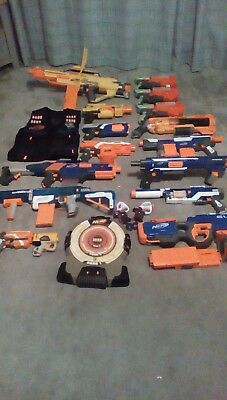 huge bundle of NERF Guns hyperfire retaliator rapidstrike vest stampede