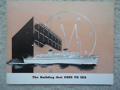 """Matson Line - """"The Building that goes to Sea"""" - Brochure - 1935"""
