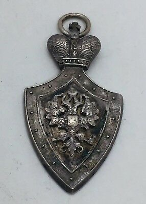 Antique Imperial Russian Sterling Silver Jetton Medal Pendant