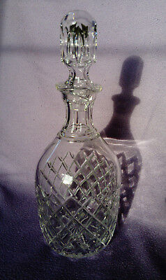 Crystal cut glass decanter with stopper beautiful classic design