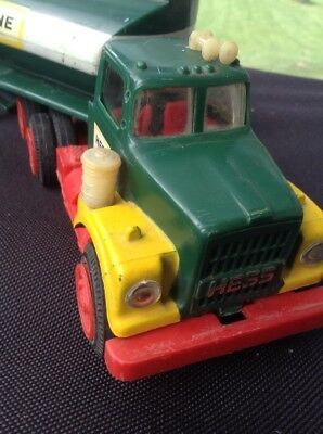 ORIGINAL 1960's MARX TOY TRUCK-- HESS TRUCK AND TRAILER 1960'S--RARE ITEM USED