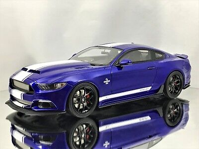 GT Spirit Shelby Ford Mustang Super Snake 2017 Deep Impact Blue Resin Model 1:18
