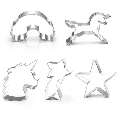 Cookies mould Unicorn Shooting star Rainbow cloud Cutter bread stainless steel