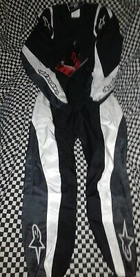 Alpinestars kmx1 anthracite white size 44 new in bag and tags racing suit