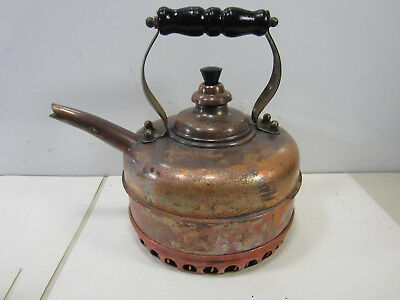 Vintage Simplex Made In England Solid Copper Kettle