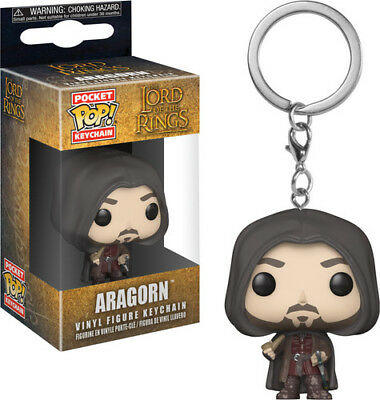 Lord of the Rings / Hobbit - Aragron - Funko Pop! Keychains (2018, Toy NUEVO)