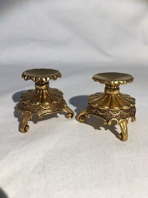 Franklin Mint House of Fabergé PAIR OF NUMBERED SIGNED EGG STANDS VGC