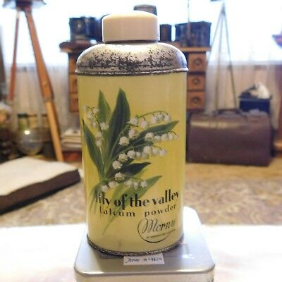 Morny Lily of the valley Talc Tin 3 oz