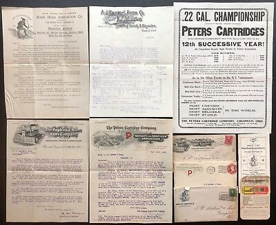 B964 US - Letterhead Lot of 4 - Guns and Ammo Companies - 3 Envelopes + Flyer +