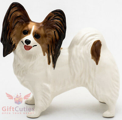 Porcelain Figurine of the Papillon dog