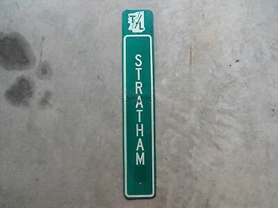 New Hampshire Stratham town line highway route road traffic sign USED AUTHENTIC