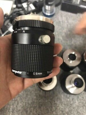 COMPUTAR TEC-M55 TECM55 LENS TELECENTRIC MANUAL IRIS 55MM used and tested 1PCS