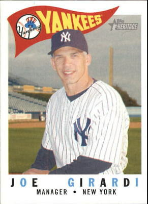 2009 Topps Heritage New York Yankees Baseball Card 217 Joe Girardi Mg