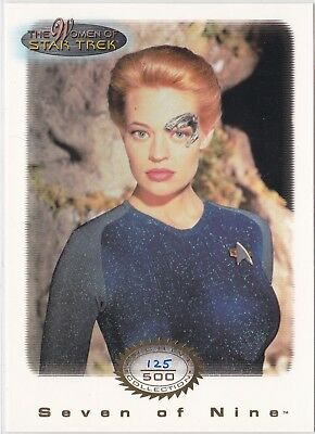 Star Trek Women Of Star Trek In Motion Archive Collection Gold 3 Seven Of 9 /500