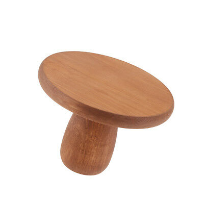Wood Wedding Cake Stand Round Handmade Party Display Pedestal Plate Brown L