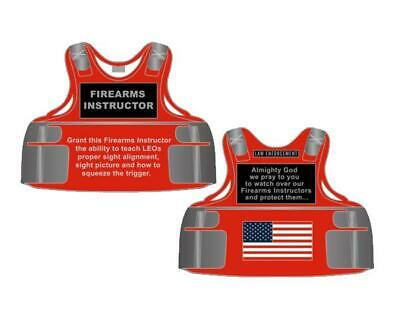 Firearms Instructor Body Armor Challenge Coin