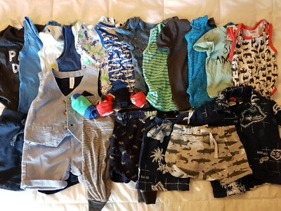 Bulk Lot Baby Boy Clothes Size 000-0 - 24 pieces