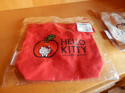 21f9d0f8c MINT Small ReD Tote SaNriO HELLO KITTY NEW Canvas UNOPENED Bag APPLE A DAY
