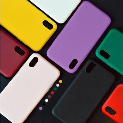 Candy Color Silicone Soft Liquid Luxury Case Cover For Apple iPhone X/8/7/6s/XS