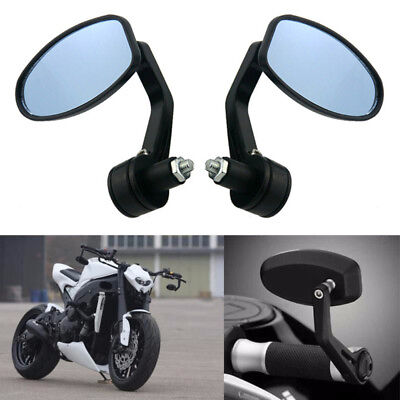 "Motorcycle End Bar Rearview Mirror 7/8"" Handle Bar 360°Adjustable Mirror Angle H"