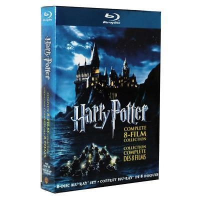 Harry Potter 1-8 Movie DVD Films Box Set Complete 1-8 Film Collect US Pronuncian