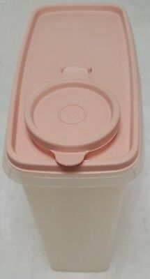 Tupperware 13 Cup Store N Pour Cereal Sheer 469 Container & Pink/Rose Lid 471