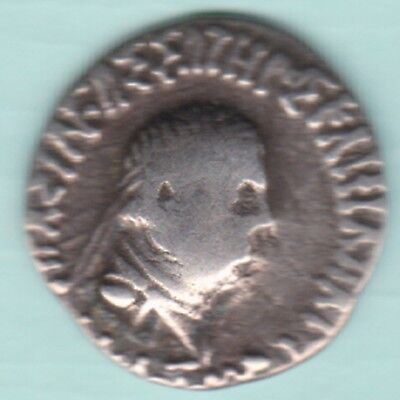 Ancient India - Indo Greek - Menander -  Kings Potrate - Rare Silver Coin