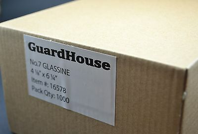 """lot of 1000 # 7 GLASSINE ENVELOPES 4 1/8"""" x 6 1/4"""" GUARDHOUSE STAMP COLLECTING"""