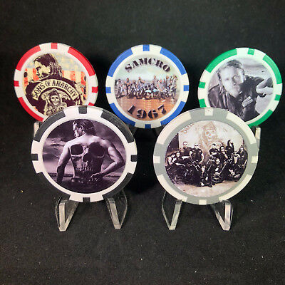 5 Pc Sons of Anarchy Poker Chips