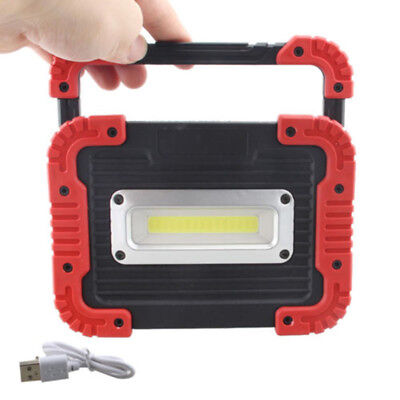 Portable 30W LED Work Light Magnetic Stand Rechargeable Garage Shop Lamp USB