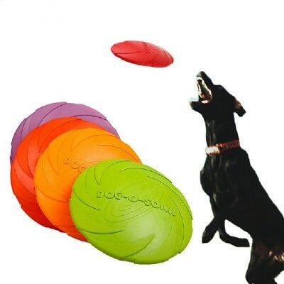 New Pet Dog Toy Training Silicone Frisbee Flying Disc soft Frisby Fetch Throwing