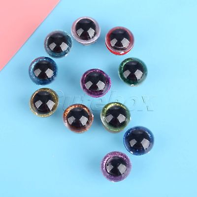 20pcs/lot 16mm Plastic Safety Toy Sparkling Eyes+Washers DIY Plush Doll Findings
